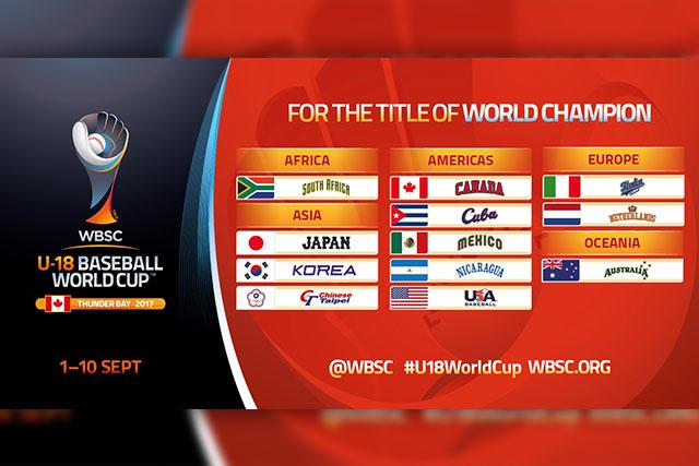 野球日本代表 侍ジャパンオフィシャルサイトWBSC第28回U-18W杯組み合わせ決定 2017年度も全世代侍ジャパンが世界へ挑む!