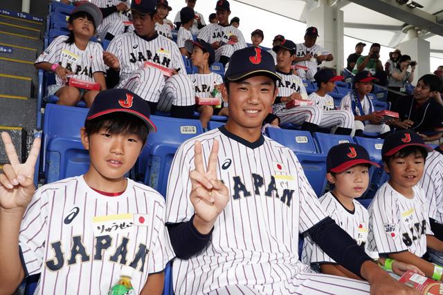 侍ジャパンU-18代表、野球体験イ...